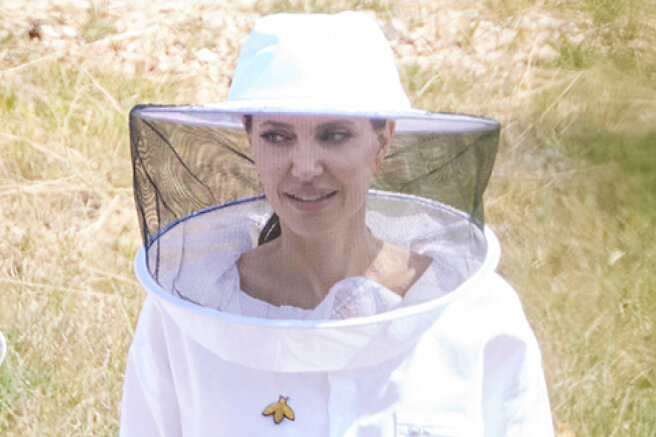 """Angelina Jolie flew to Provence: beekeeper's costume and dinner with graduates of the program """" From women to bees"""""""