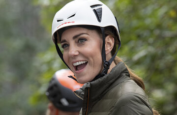 Rock climbing and walking on the lake: details of Kate Middleton's new exit