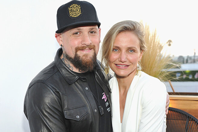 """Benji Madden pathetically congratulated his wife Cameron Diaz on her birthday: """"We are so lucky with you"""""""