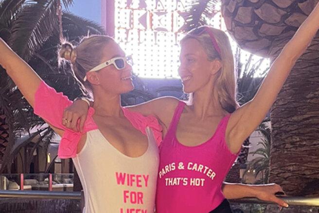 Paris Hilton celebrated a bachelorette party in Las Vegas