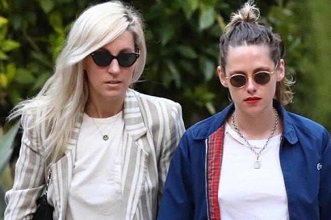Kristen Stewart caught on a walk with her girlfriend Dylan Mayer