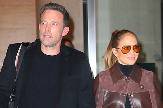 """Jennifer Lopez and Ben Affleck were filmed in New York after the premiere of the film """"The Last Duel"""""""