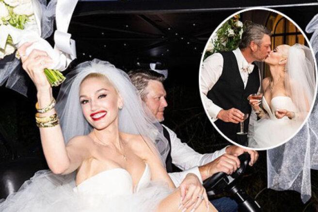 Gwen Stefani showed photos from the wedding with Blake Shelton