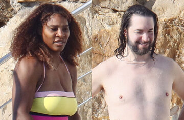Serena Williams with her husband Alexis Ohanian and daughter on vacation in the south of France