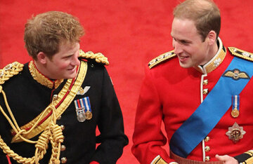 Prince William made a witty joke about Prince Harry's musical abilities on his wedding day to Kate Middleton