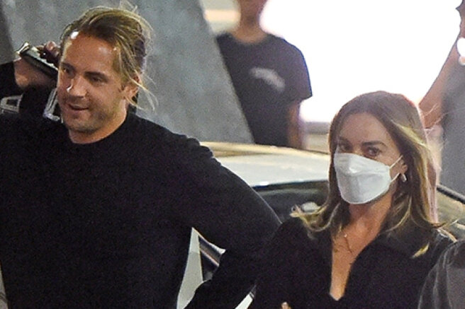 Rare shot: Margot Robbie was photographed with her husband Tom Ackerley in Beverly Hills