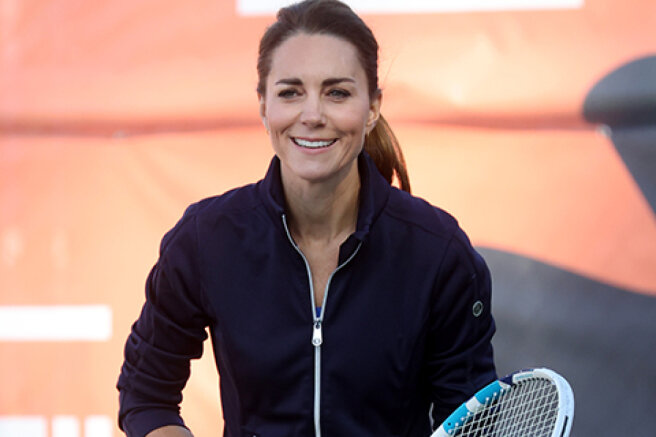 Mini skirt and racket: Kate Middleton played tennis with the champions of the US Open tournament