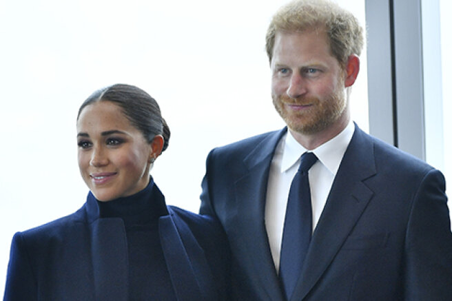 Meghan Markle and Prince Harry made their first public appearance after the birth of their daughter