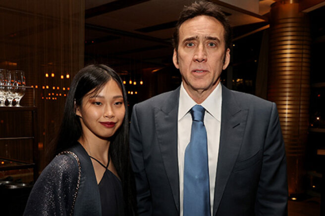 Nicolas Cage and his fifth wife, Riko Shibata, came out together for the first time
