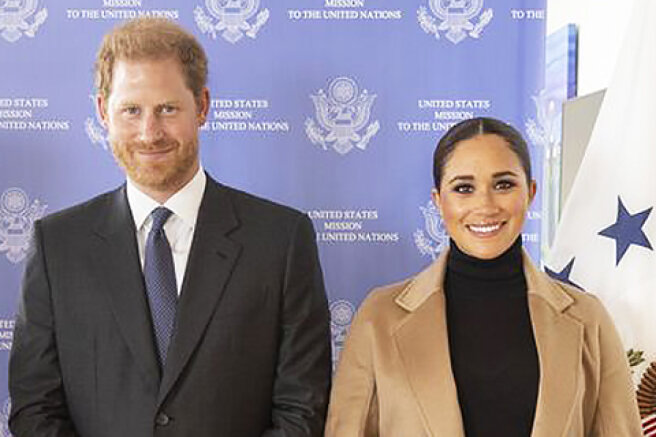 Continuing the tour: Meghan Markle and Prince Harry at a meeting with the UN Ambassador in New York