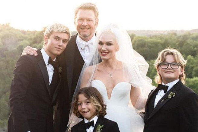 Gwen Stefani has published new pictures from the wedding with Blake Shelton