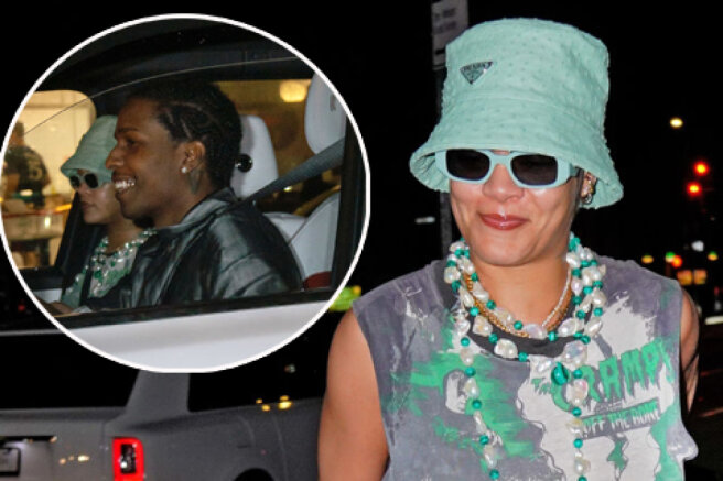 Rihanna and her boyfriend A$AP Rocky again got into the lenses of the paparazzi