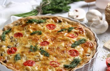 Seasonal quiche with vegetables: a delicious recipe from Grigory Herman