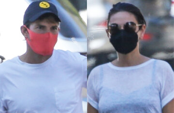 Rare shot: Ashton Kutcher and Mila Kunis on a walk in Los Angeles