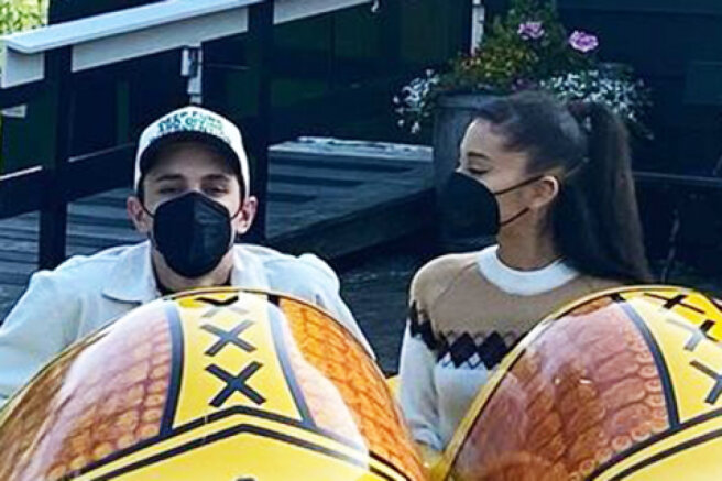 Ariana Grande showed photos from her honeymoon in Amsterdam with her husband Dalton Gomez