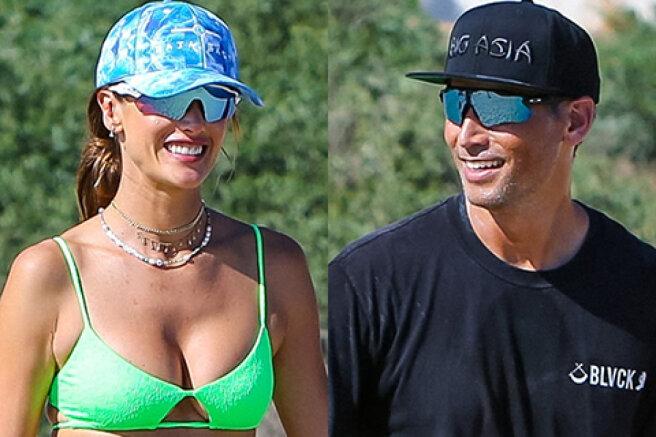 Alessandra Ambrosio with boyfriend Richard Lee on vacation in Santa Monica