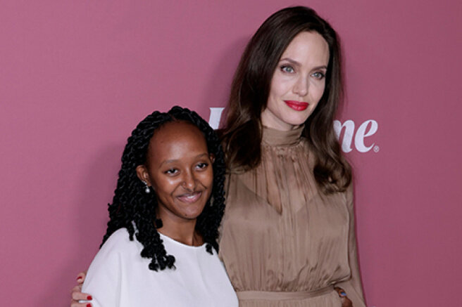 Angelina Jolie with her daughter Zahara, Katy Perry and Orlando Bloom and others at the Variety Power Of Women ceremony