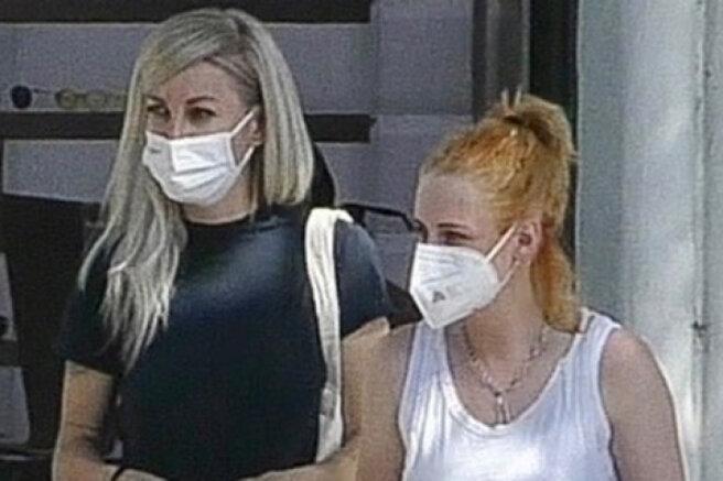 Kristen Stewart with her girlfriend Dylan Meyer on a walk in Los Angeles