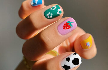 Emoticons, cows and creative freedom: 8 cool ideas for spring manicure