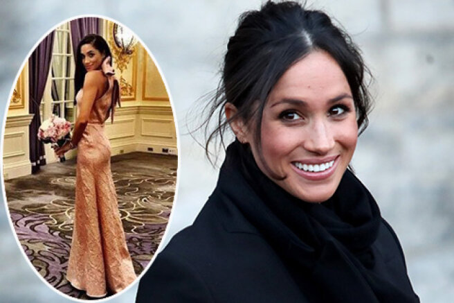 The network has an archive picture of Meghan Markle as a bridesmaid