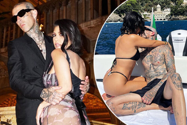 Tenderness, passion and kisses: how Kourtney Kardashian and Travis Barker spend a romantic vacation in Italy