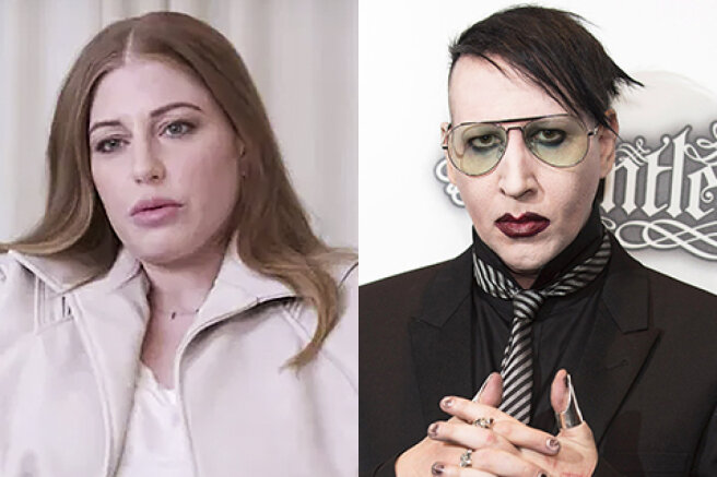 """Model Ashley Morgan Smithline spoke about the violence at the hands of Marilyn Manson: """"The scariest monster"""""""