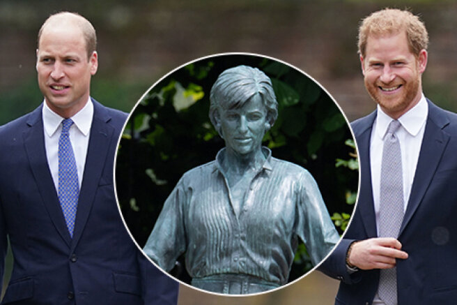 Prince William and Prince Harry unveiled a monument to Princess Diana in London