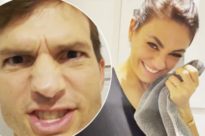 Mila Kunis and Ashton Kutcher made a funny video from the bathroom. This is a response to criticism of their methods of raising children