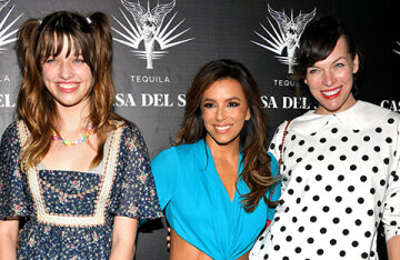 Demi Moore, Milla Jovovich with her daughter, Eva Longoria and other stars at the presentation in Los Angeles