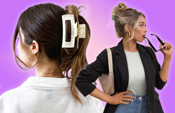 Stylish hairstyles with crabs come from the 1990s: simple solutions for hair of any length and density