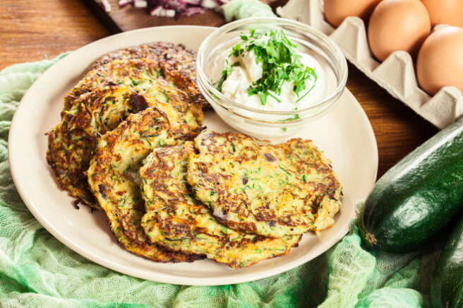 Zucchini fritters pp