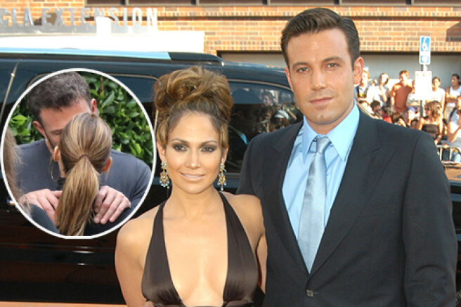 Jennifer Lopez and Ben Affleck showed tender feelings in public: photos