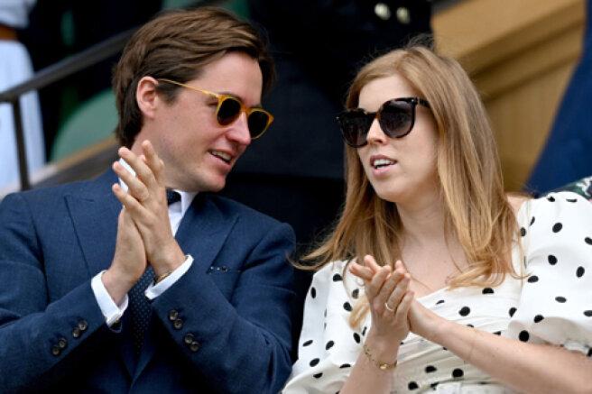 Pregnant Princess Beatrice and her husband Edoardo Mapelli-Mozzi attended the Wimbledon tournament