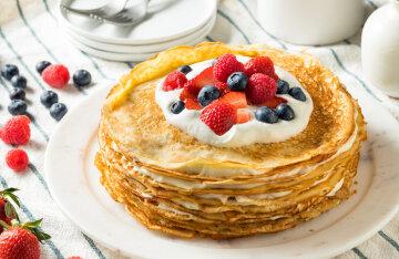 Pancake cake: a recipe from TikTok