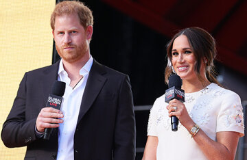 Meghan Markle and Prince Harry performed at the Global Citizen Live concert in New York