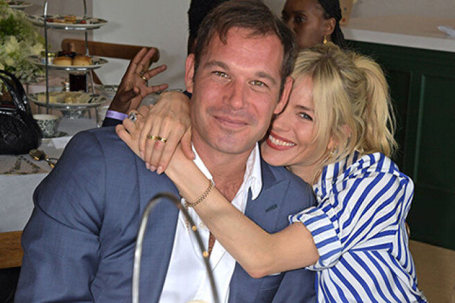 Sienna Miller has fueled rumors of an affair with billionaire Archie Keswick