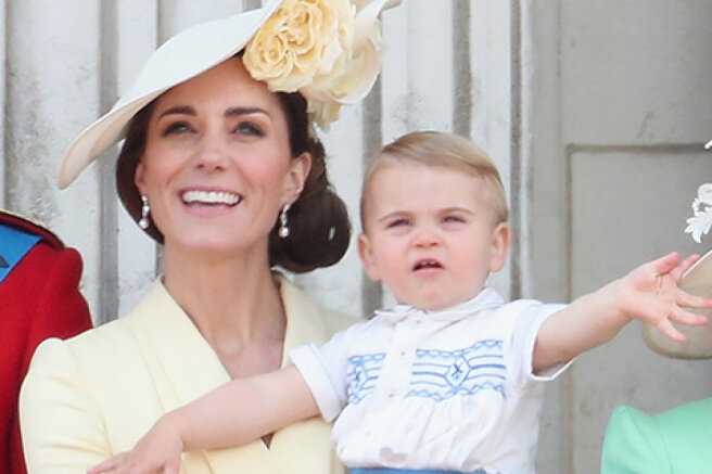 Kate Middleton was spotted on a walk with Prince Louis near Kensington Palace