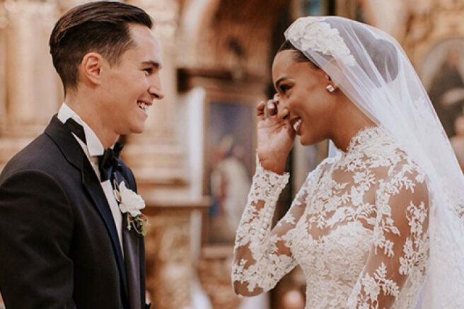 """Victoria's Secret """"angel"""" Jasmine Tookes got married: a dress in the style of Grace Kelly and other details of the celebration"""