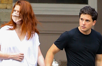 Young parents Kit Harington and Rose Leslie on a walk in New York