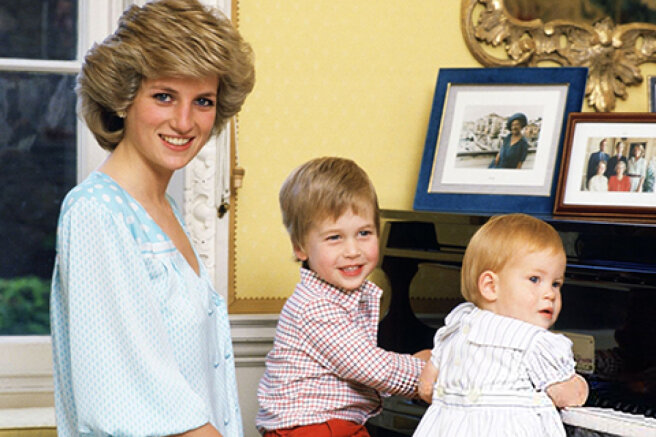As a mother: the most touching photos of Princess Diana with her sons William and Harry