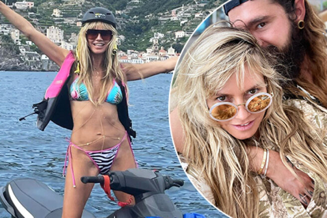 Heidi Klum and Tom Kaulitz celebrate their wedding anniversary on the island of Capri