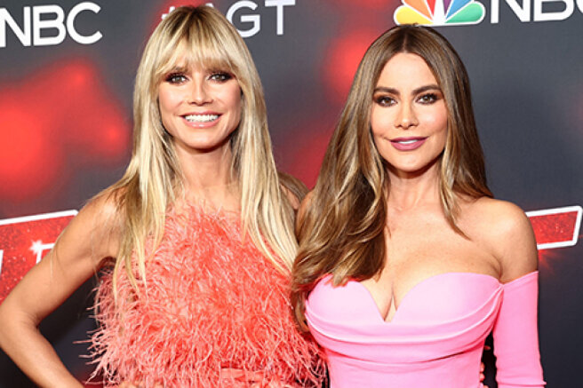 """Heidi Klum and Sofia Vergara at the premiere of the new season of the show """"America is looking for talent"""" in Hollywood"""