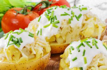 Baked stuffed potatoes: the original recipe of Grigory Herman