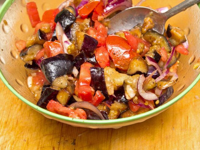 summer eggplant salad